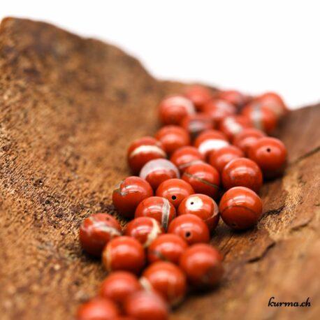 Perles Jaspe rouge 12mm