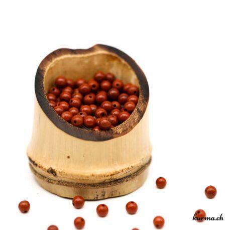 Perles Jaspe rouge 5mm