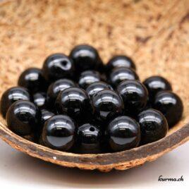 Perles Tourmaline noire 12mm