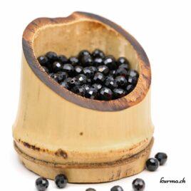 Perles Tourmaline noire facette 4mm