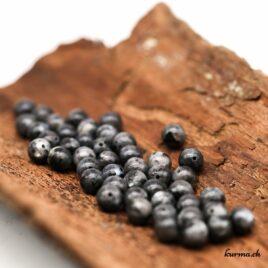 Perles Larvikite 8mm