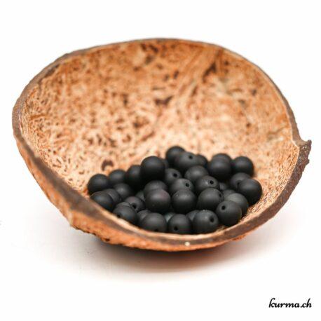 Perles Obsidienne Arc-en-ciel mate 8mm