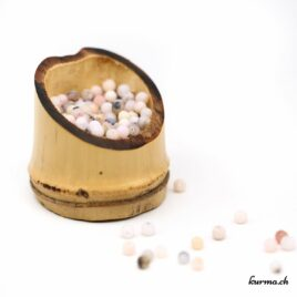 Perles Opale des Andes rose mate 4mm