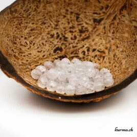 Perles Cristal de roche Iris 6mm