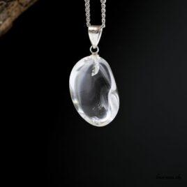 pendentif en argent de Quartz cristal de roche