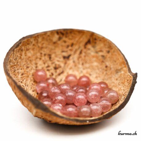 Perles Quart fraise 8mm