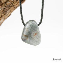 Collier en pierre percée de Quartz-oeil-de-chat