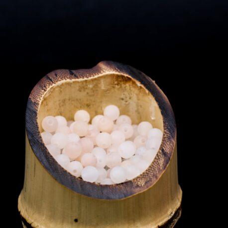 Perles Quartz pêche mat 4mm