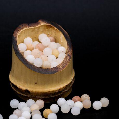 Perles Quartz pêche mat 6mm