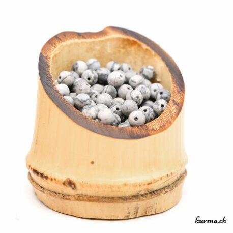 Perles Septaria mate 4mm