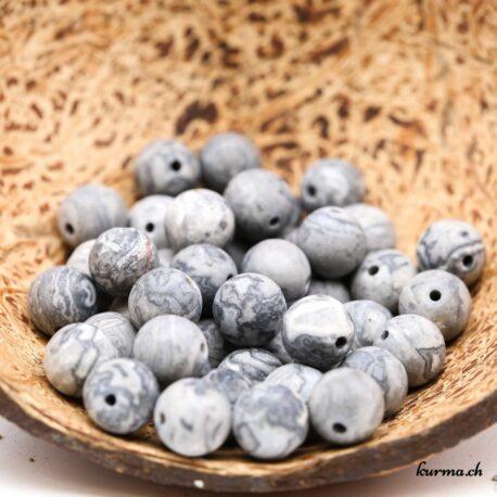 Perles Septaria mate 8mm