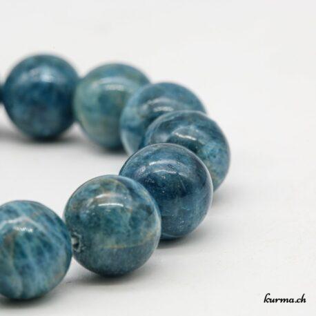 Bracelet Apatite bleue 12mm