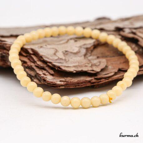 Bracelet Aragonite jaune 4mm