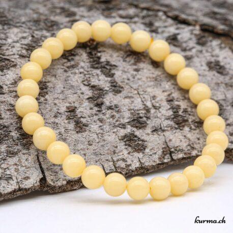 Bracelet Aragonite jaune 6mm