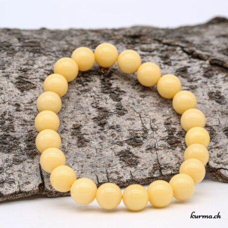 Bracelet Aragonite jaune 8mm