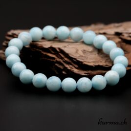 Bracelet Aragonite bleue 8mm