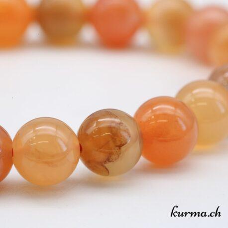 Bracelet Agate abricot 8mm