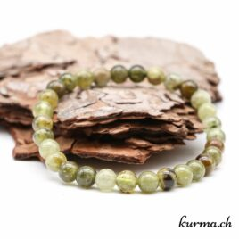Bracelet Grenat vert 6mm