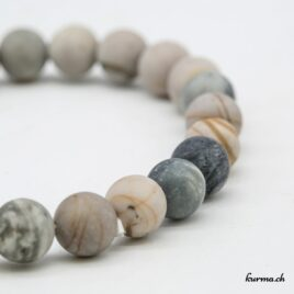 Bracelet Jaspe Picasso mat 8mm
