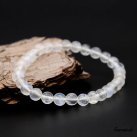Bracelet Labradorite blanche 6mm