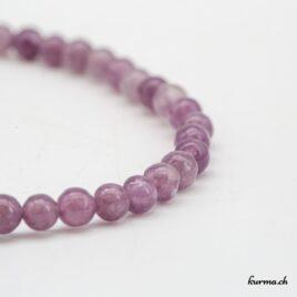 Bracelet Lépidolite violette 4mm