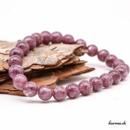 Bracelet Lépidolite violette 8mm