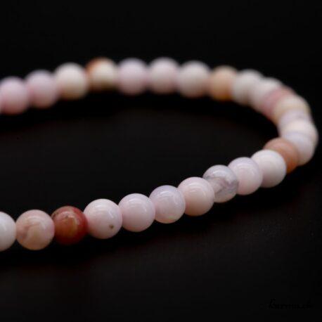 Bracelet Opale des Andes rose 4mm