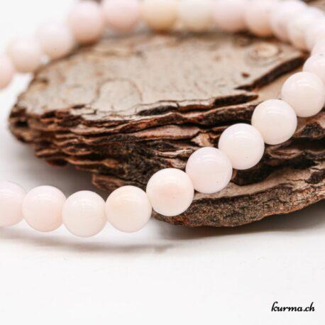 Bracelet Opale des Andes rose 6mm