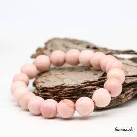 Bracelet Opale rose Australie 10mm