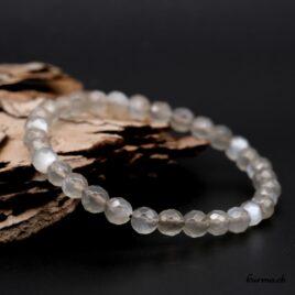 Bracelet Pierre de lune grise 6mm