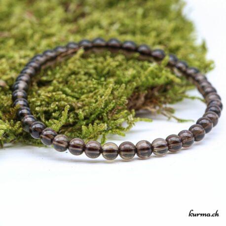 Bracelet Quartz fumé 4mm