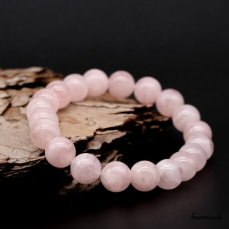 Bracelet Quartz rose 10mm