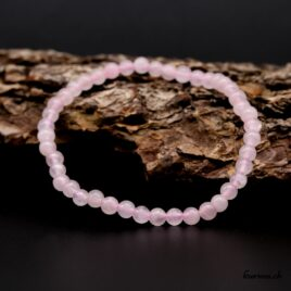 Bracelet Quartz rose 4mm