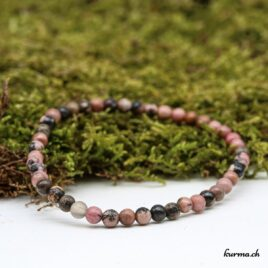 Bracelet Rhodonite 4mm