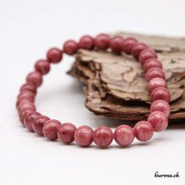 Bracelet Rhodonite rose 6mm