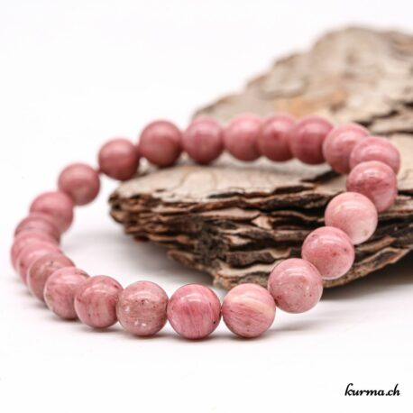 Bracelet Rhodonite rose 8mm