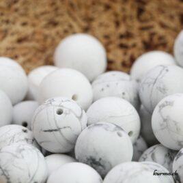 Perles en Magnésite mate 12.5mm