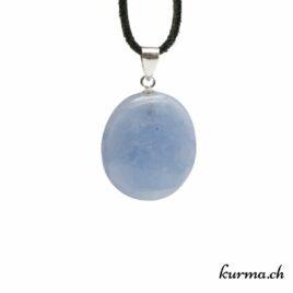 Calcite bleue pendentif en argent