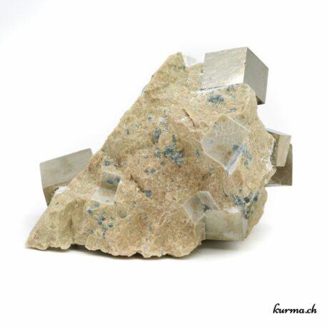 Pyrite sur matrice naturelle