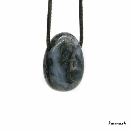 Agate mousse pendentif pierre