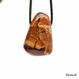 """Rhyolite """"Agate étoilée"""" – Pendentif pierre percée – N°7285.1"""