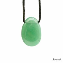 Aventurine verte – Pendentif pierre percée – N°5964.1