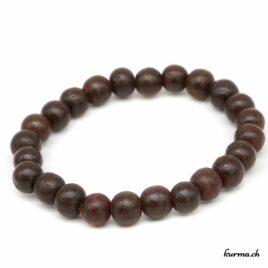Bracelet en bois brun foncé 10mm