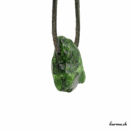 Dioptase pendentif pierre percée