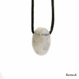 Labradorite blanche – Pendentif pierre percée – N°7058.1