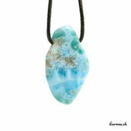 Larimar – Pendentif pierre percée – N°7923.2
