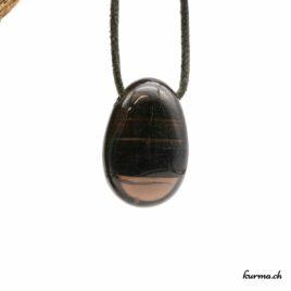 Obsidienne lamelle- Pendentif pierre percée – N°8057.2