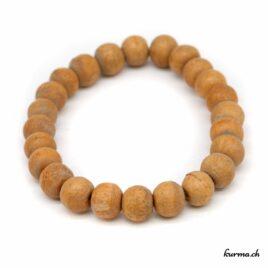 Bracelet en bois beige 10mm
