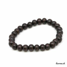 Bracelet en bois noir 8mm