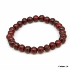 Bracelet en bois rouge 8mm élastique